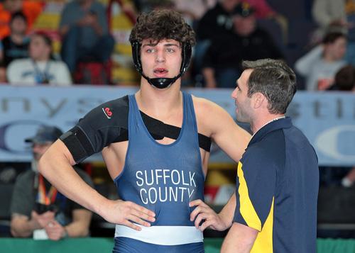 Mattituck:Greenport:Southold wrestler Tanner Zagarino 022517