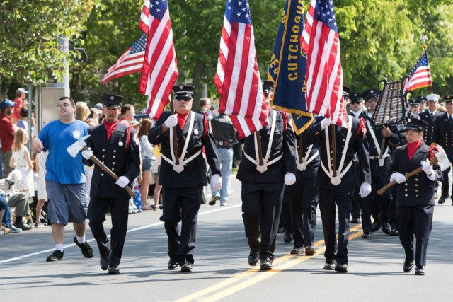 The official Southold Town Memorial Day was held in Southold village, proceeding from Boisseau Avenue and Main Road to Griswold-Terry-Glover American Legion Post 803 at Tuckers Lane. (Credit: Katharine Schroeder)