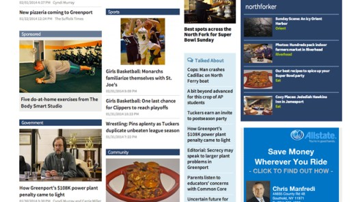 The new homepage offers more points of entry into our news content.