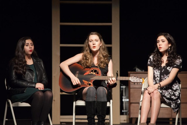 """Alexa Palumbo, Nellie Spackman and Quinn Osmer sing """"Let It Go."""""""