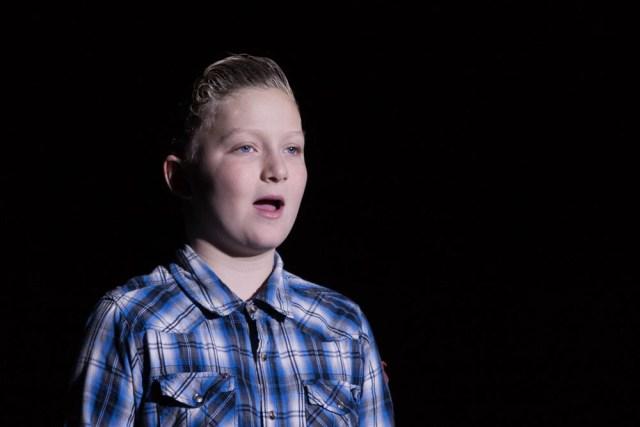 """Quinn Brickman sings """"Moon River."""""""