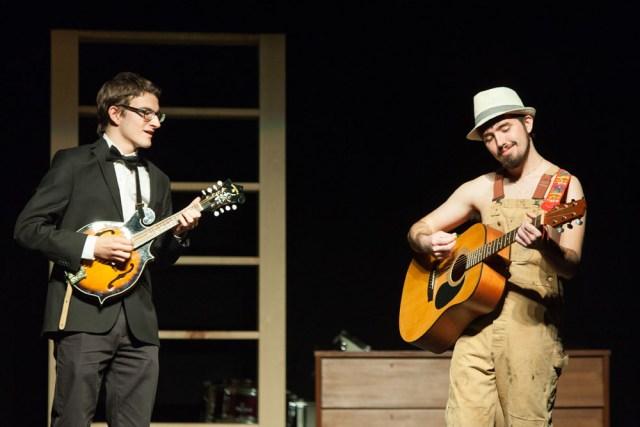 "Sam Shaffery and Ryan Zlatniski perform ""Arkansas Traveler."""