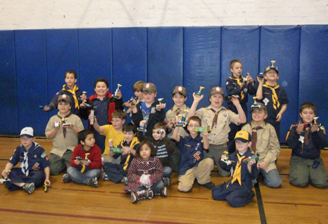 COURTESY PHOTO | Greenport Pack 51 Cub Scouts held their annual Pinewood Derby on Jan. 28 at Greenport School. First place went to Johnathan Montgomery-Medina; second place, Adam Ilgin; third place, Luca Rallis.