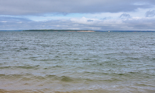 BARBARAELLEN KOCH FILE PHOTO | A view of Peconic Bay from Mattituck Beach.