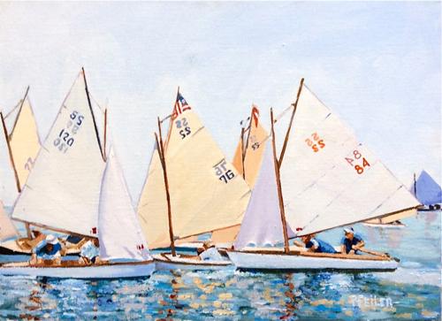 """""""S.S. Rendezvous and Race"""" by Mattituck artist Pat Feiler."""