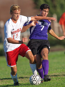 GARRET MEADE FILE PHOTO | Will Richter playing against Port Jefferson, which was responsible for three of Southold's five losses last season.