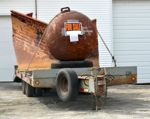CYNDI MURRAY PHOTO |This 54-inch mooring buoy is for sale at the town Highway Department.