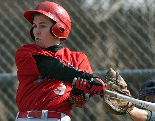 Liam Walker drove in five runs on 4-for-4 hitting for Southold in its 20-2 win over Greenport on Monday. (Credit: Garret Meade)
