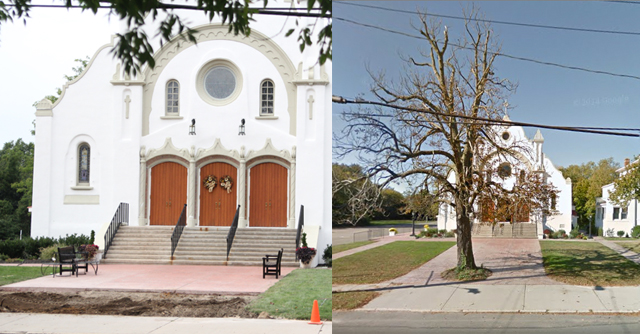 St. Patrick's Church tree removed