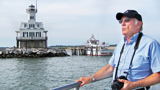 Ted Webb during a 2011 Lighthouse Tour with the East End Seaport Museum. (Credit: Julie Lane, file)