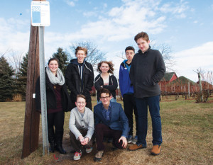 KATHARINE SCHROEDER PHOTOStanding, from left:  Vivienne Glasser, 15, Southold; Thomas Spackman, 15, Greenport; Gwyn Foley, 15, Cutchogue; John Batuello, 16, Cutchogue; Connor Morrison, 15, Greenport.  Kneeling:  Ethan Sisson, 15, Southold, left; Sam Shaffery, 15, Cutchogue, right.  Not shown:  Ashley Alexander, 16, Southold.