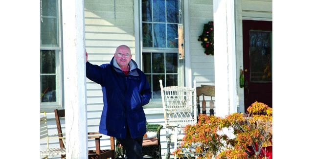 Bob Hartz outside the Iron Skillet in Mattituck. (Credit: Katharine Schroede file photo)