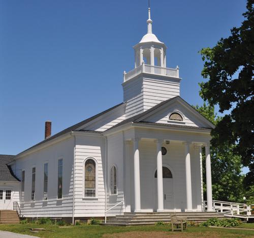The United Methodist Church in Cutchogue, built around 1928, went on the market last year. (Credit: Cyndi Murray)
