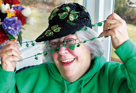KATHARINE SCHROEDER PHOTO | Cutchogue St. Patrick's Day Parade grand marshal Paula Thorpe.