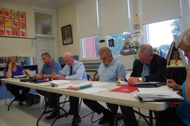 The New Suffolk School board accepted the resignation of a teacher assistant Tuesday night. (Credit: Nicole Smith)
