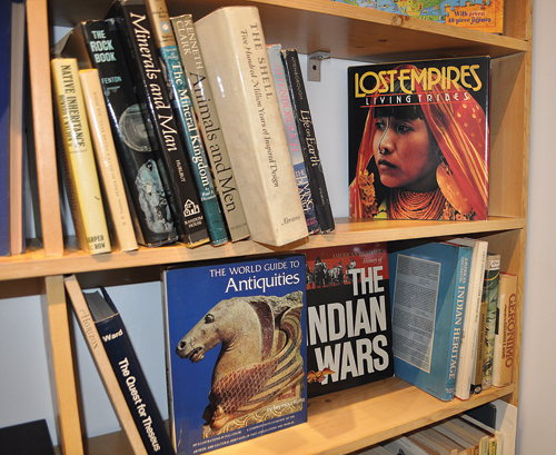 Books on display at the temporary bookstore on Art Sites in Riverhead. (Credit: Rachel Young)