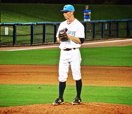 Steve Ascher's pitching helped the Class A Charlotte Stone Crabs win their first Florida State League championship. (Credit: courtesy photo)