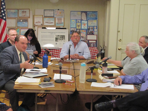The Greenport Village board at last week's meeting.