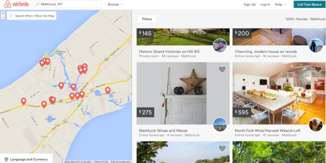 Nightly Mattituck rentals listed through airbnb.com.