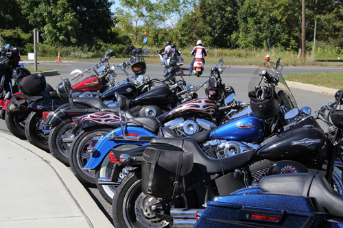 CARRIE MILLER PHOTO | Riders traveled from as far as Poughkeepsie to take part in Saturday's fundraiser.
