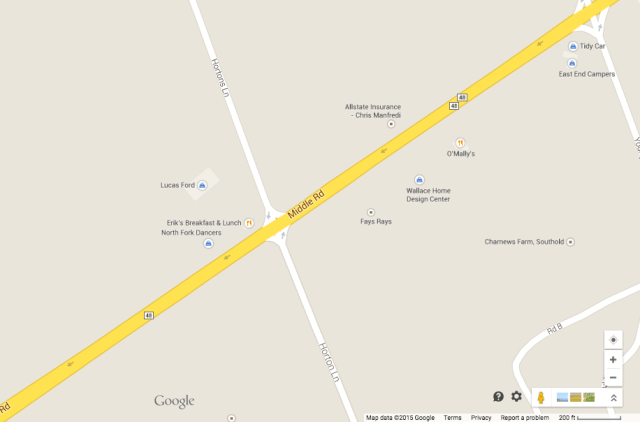 Police say the crash happened just west of Hortons Lane. (Credit: Google Maps)