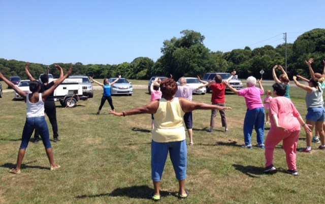 Some even took part in Zumba classes. (Credit: Sonia Spar)