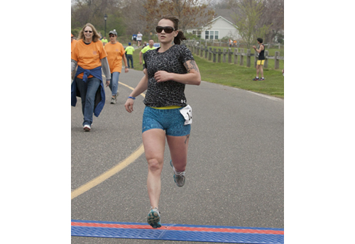 Tara Wilson was the first place female with a time of 21:08. (Credit: Katharine Schroeder)