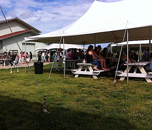CARRIE MILLER FILE PHOTO   Vineyard 48 erected outdoor tents violating town policy, according to Southold Town attorney Martin Finnegan.