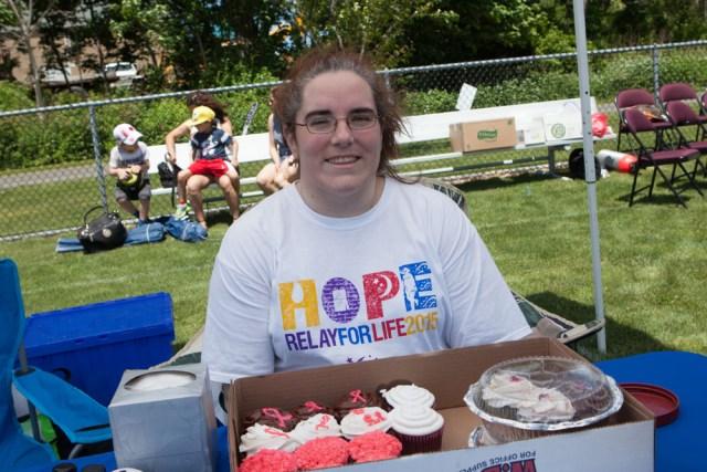 Jillian Deerkoski from Eastern Long Island Hospital baked cupcakes. (Credit: Katharine Schroeder)