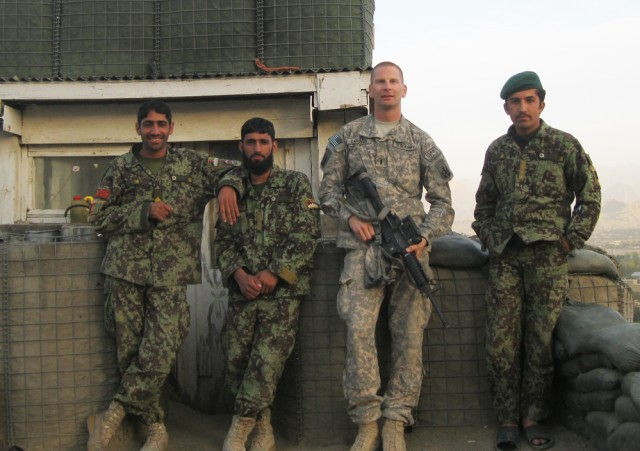 Charles Sanders (second from right) during his first tour in Afghanistan in 2010, when he was a 1st Lieutenant. (Credit: Courtesy photo)