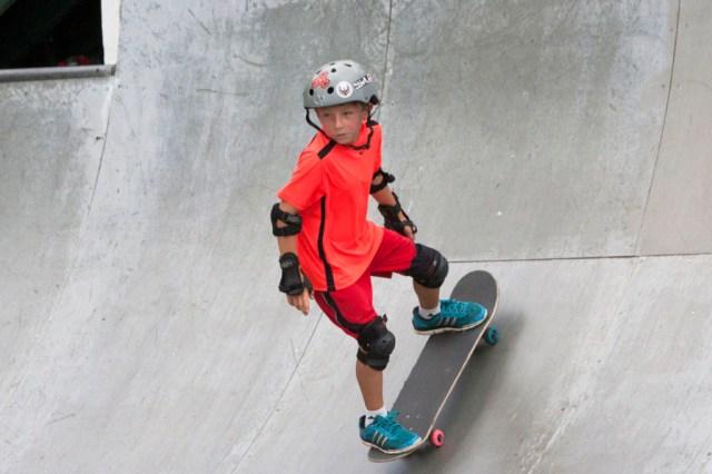 Christopher Thomas, 8, of Bay Shore skates at Sunday's festival. (Credit: Katharine Schroeder)