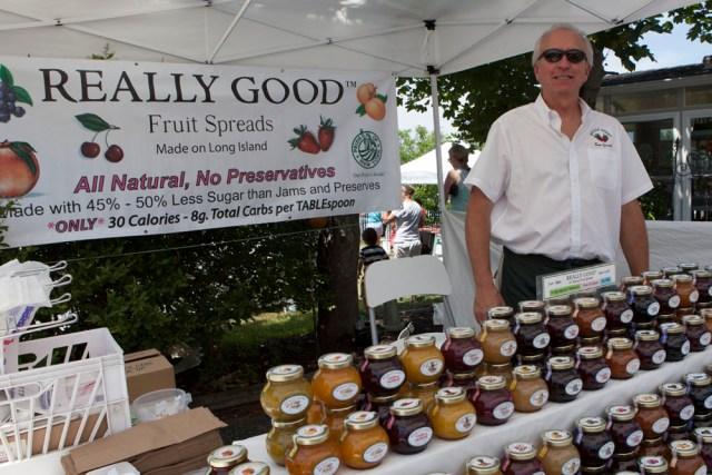 Ken Schneider from Cutchogue's Really Good Fruit Spreads. (Credit: Katharine Schroeder)