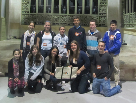 Greenport High School DECA Club members recently visited the set of Saturday Night Live in Manhattan as part of their tour with GHS graduate/NBCUniversal employee Melissa Kondak. The students also visited the swimsuit company It Figures and met with swimwear expert Kelly Logsdon of Greenport.