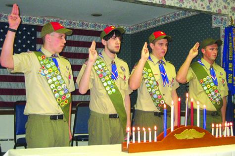 From left: Zac Sacher, Ryan Mazzei, Charles Hydell and John Dunne.