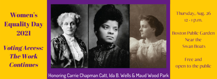 Women's Equality Day 2021 - Suffrage100MA website banner image