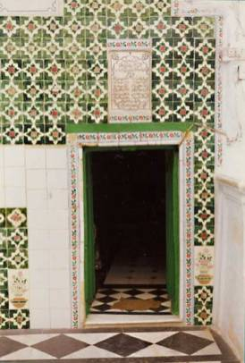 Entrance to the cave wherein Khwaja Mo'inuddin Chishti performed his retreat