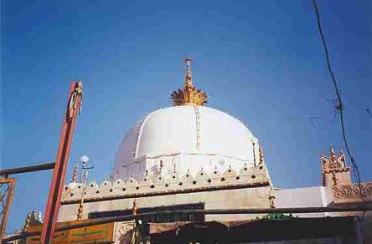 The dome of the dargah of Khwaja Mo'inuddin Chishti