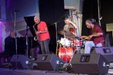 (L-R) Kidd Jordan, Michael Bisio, Hamid Drake