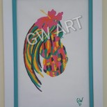 Framed Acrylic on Canvas