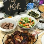 GW Art's 'Live Laugh Love' Tabletop at a happy buyer's Christmas Dinner