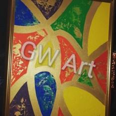 """Framed Acrylic on (18×24)"""" Canvas"""