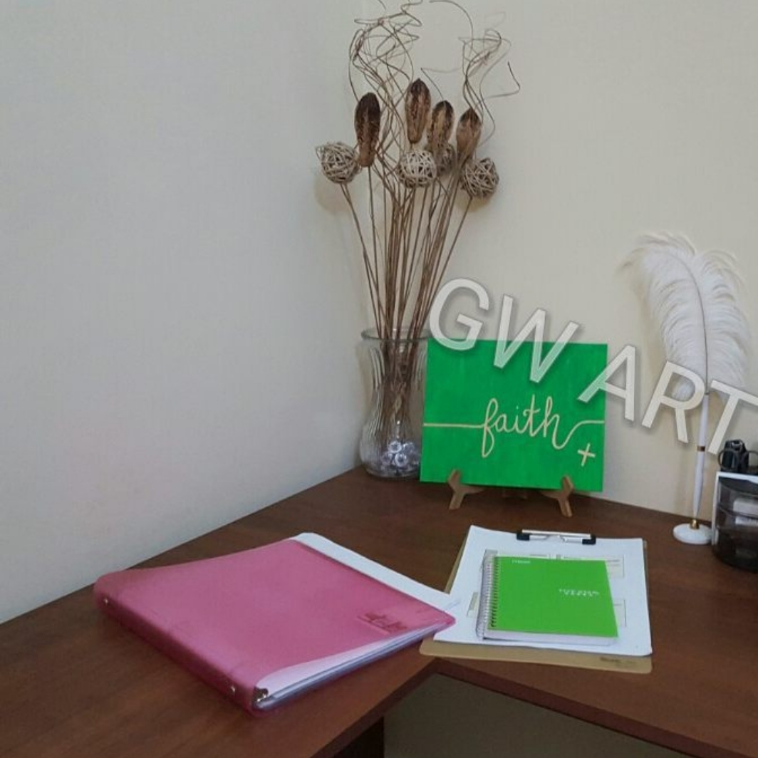 """GW Art's 'Faith' Acrylic on (8×10)"""" Canvas Panel Tabletop/Desktop"""