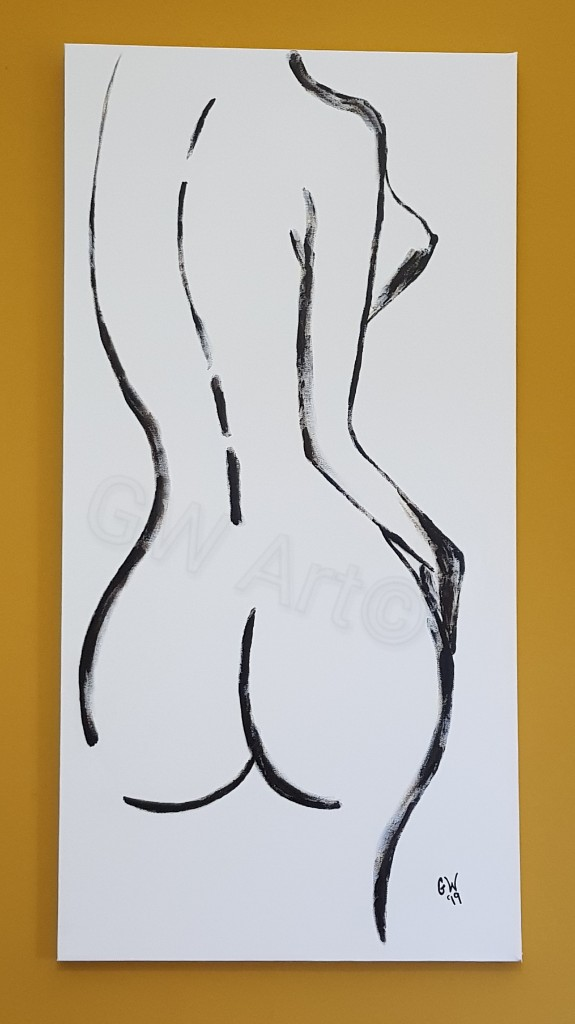 GW Art's NEW piece, 'Figure 8' ! Acrylic on (50×100)m canvas.