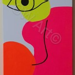 "'AN EYE FOR YOU' - Acrylic on (12×24)"" Canvas"