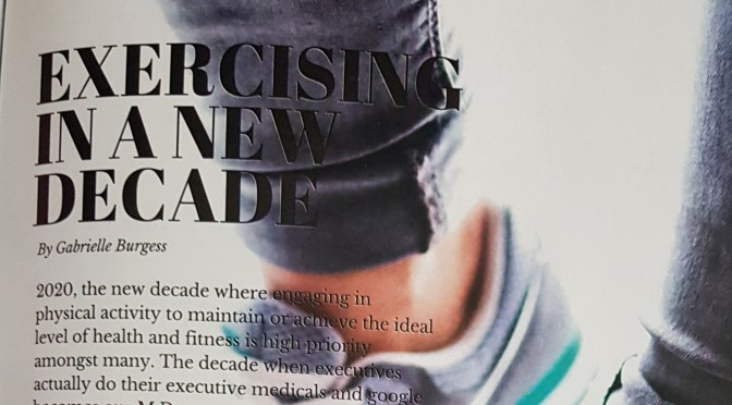 Suga Lifestyle has been Published again! – 'Exercising in a NEW Decade'
