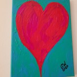 "'LOVE AND UNITY' - Acrylic on (9×12)"" Canvas - PRICE: $7000JMD"