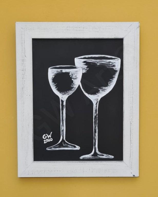 """Acrylic on Framed (9×12)"""" Canvas"""