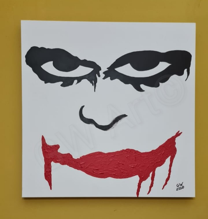 "Acrylic on (24×24)"" 3D Canvas PRICE: $25,000JMD"