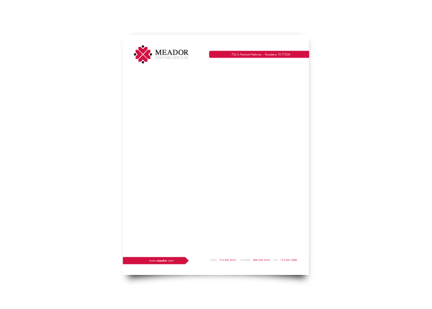 Meador Staffing Services Letterhead