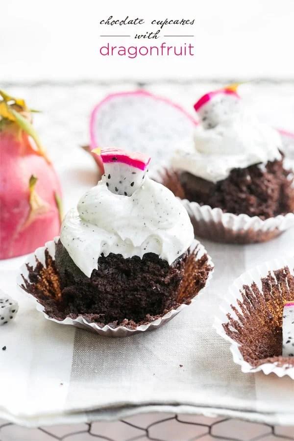 Dragonfruit Cupcakes